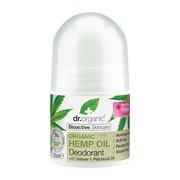 Dr.Organic Hemp Oil, dezodorant w kulce z organicznym olejem  z konopi siewnych, roll-on, 50 ml