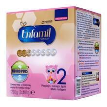 Enfamil Premium 2 mleko modyfikowane w proszku 1200 g dla niemowląt, (3x400 g)