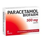 Paracetamol  Biofarm, 500 mg, tabletki,  6 szt.