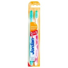 Jordan Advanced, szczoteczka do zębów, soft, (1 + 1 GRATIS)