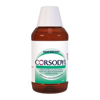 Corsodyl, 0,2%, płyn do płukania jamy ustnej, 300 ml