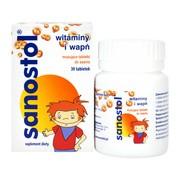 Sanostol, tabletki musujące do ssania, 30 szt.