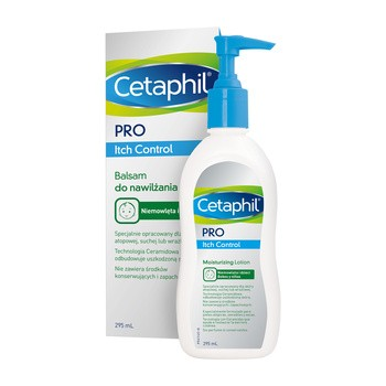 Cetaphil PRO Itch Control, balsam do nawilżania twarzy i ciała, 295ml