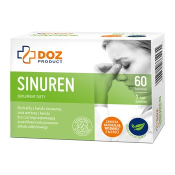 DOZ PRODUCT Sinuren, tabletki powlekane, 60 szt.