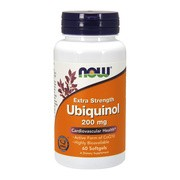Ubiquinol 200 mg, kapsułki, 60 szt. (Now Foods)