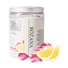 Fresh&Natural, różana sól do kąpieli z różą i cytryną, 1000 g