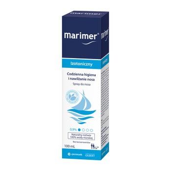 Marimer, spray oczyszczający, woda morska do nosa, roztwór izotoniczny, 100 ml