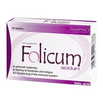 Folicum acidum, tabletki, 30 szt.