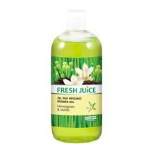 Fresh Juice, żel pod prysznic z trawą cytrynową i wanilią, 500 ml
