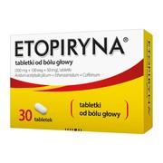 Etopiryna, tabletki od bólu głowy, 30 szt.