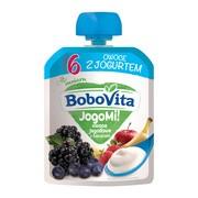 BoboVita, deser owoce jagodowe z jogurtem, 6 m+, 80 g