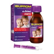 Ibuprom dla Dzieci Forte, 200 mg/5 ml, zawiesina doustna, 150 ml