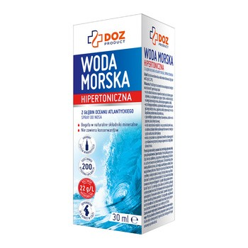 DOZ PRODUCT Woda morska hipertoniczna, spray do nosa, 30 ml