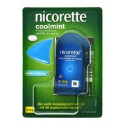 Nicorette Coolmint, 4 mg, tabletki do ssania, 20 szt.