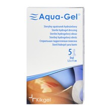 Aqua-Gel, opatrunek hydrożelowy, 5,5 x 11 cm, owalny, 5 szt.