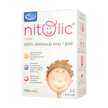 Pipi Nitolic, zestaw na wszy, 100 ml