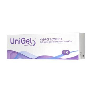 UniGel Apotex, żel do leczenia ran,  5 g