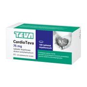 Cardioteva, 75 mg, tabletki dojelitowe, 100 szt.