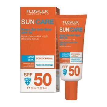 FlosLek Laboratorium Sun Care, krem-żel Anti-Spot, SPF 50, 30 ml