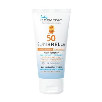 Dermedic Sunbrella Baby, krem ochronny SPF 50 do twarzy, od 1. miesiąca życia, z prekursorem witaminy D3, 50 g