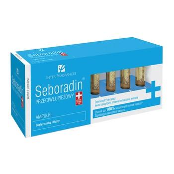 Seboradin Przeciwłupieżowy, ampułki, łupież suchy i tłusty, 14 ampułek x 5,5 ml