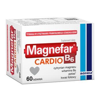 Magnefar B6 Cardio, tabletki, 60 szt.