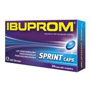 Ibuprom Sprint Caps, 200 mg, kapsułki miękkie, 24 szt.