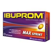 Ibuprom Max Sprint, 400 mg, kapsułki miękkie, 20 szt.