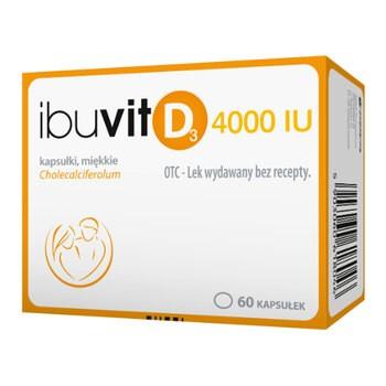 Ibuvit D3 4000 IU, 4000 IU, kapsułki miękkie, 60 szt.