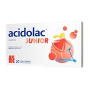 Acidolac Junior, misio-tabletki, smak truskawkowy, 20 szt.