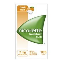 Nicorette FreshFruit Gum, 2 mg, guma do żucia, 105 szt
