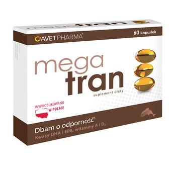 Mega Tran, kapsułki bez dodatku cukrów, 60 szt.