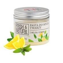Fresh&Natural, pasta do mycia twarzy z melisą i szałwią, 150 ml