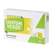Tantum Verde smak cytrynowy, 3 mg, pastylki twarde, 30 szt.