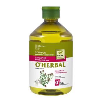O`Herbal, szampon do włosów farbowanych, ekstrakt z macierzanki tymianku, 500 ml