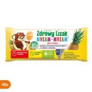 Zdrowy Lizak Mniam-Mniam na koncentrację i odporność, smak ananasowy, lizaki, 40 szt.