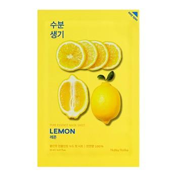 Holika Holika Pure Essence Mask Sheet - Lemon, maseczka na bawełnianej płachcie z ekstrakcie z cytryny, 20ml