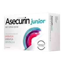 Asecurin Junior, proszek w saszetkach, 2,6 g, 10 szt.