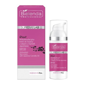 Bielenda Professional SupremeLAB Essence of Asia Glow!, antyoksydacyjny krem do twarzy z olejem z kamelii japońskiej SPF 20, 50 ml