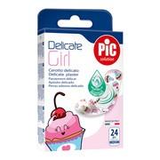 PiC Solution Delicate Girl, antybakteryjne plastry opatrunkowe, 19 x 72 mm, 24 szt.