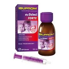 Ibuprom dla Dzieci Forte, 200 mg/5 ml, zawiesina doustna, 100 ml
