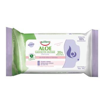 Equilibra, aloesowe chusteczki do higieny intymnej, 12 szt.