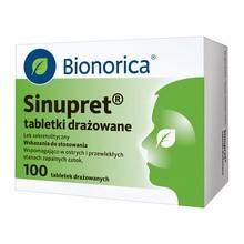 Sinupret, tabletki drażowane, 100 szt.