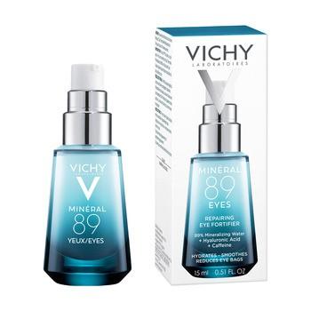 Vichy Mineral 89 Oczy, odbudowujący krem wzmacniający skórę pod oczami, 15 ml