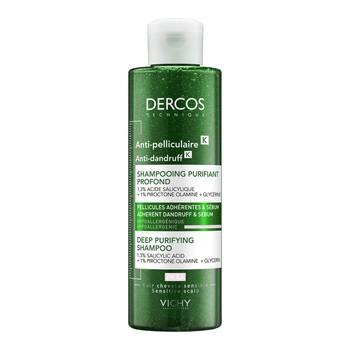 Vichy Dercos K, oczyszczający szampon przeciwłupieżowy, 250 ml