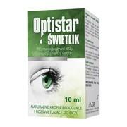 Optistar Świetlik, łagodzące i rozświetlające krople do oczu, 10 ml