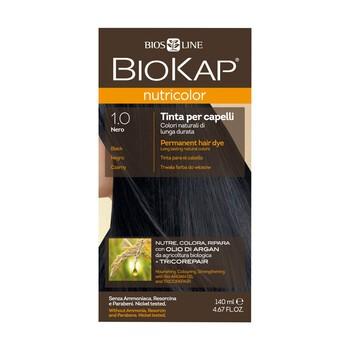 Biokap Nutricolor, farba do włosów, 1.0 czarny, 140 ml