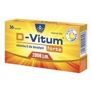 D-Vitum forte 2000 j.m., kapsułki z witaminą D dla dorosłych, 36 szt.