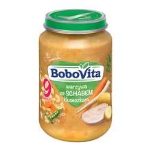BoboVita, obiadek, warzywa ze schabem i kluseczkami, 9 m+, 190 g