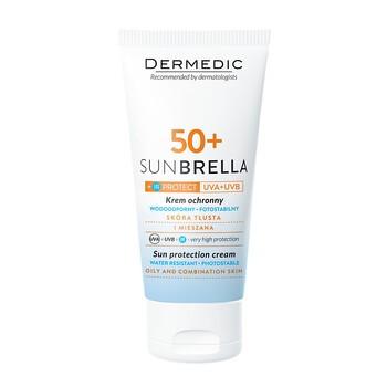 Dermedic Sunbrella, krem ochronny SPF 50+ UV+IR, skóra tłusta i mieszana, 50 g